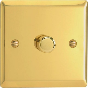 HV0-B Varilight Non-dimming 'Dummy' Series module, 1 or 2 Way Up To 1000 Watt, this is a Bespoke item, Classic Victorian Brass