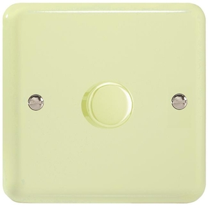 TYR1001.WC Varilight V-Dim Series 1 Gang 1 or 2 Way 1000 Watt Dimmer, Classic Lily White Chocolate