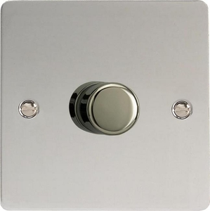 IFCP1001 Varilight V-Plus Series 1 Gang 1 or 2 Way 1000 Watt/VA Dimmer, Ultra Flat Polished Chrome