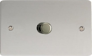 IFCDP1001 Varilight V-Plus Series 1 Gang 1 or 2 Way 1000 Watt/VA Dimmer on a Double Plate, Ultra Flat Polished Chrome