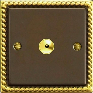 IAI601M Varilight 1 Gang, 1 or 2 Way or Multi-way 600 Watt Touch/Remote Master Dimmer, Classic Antique Georgian