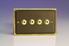 IAI254M Varilight 4 Gang, 1 or 2 Way or Multi-way 4x250 Watt Touch/Remote Master Dimmer, Classic Antique