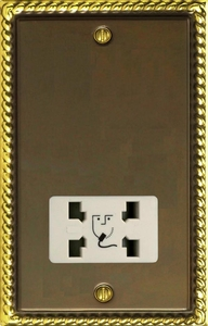 XASSW Varilight Dual Voltage Shaver Socket, Classic Antique