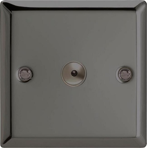 III601M Varilight 1 Gang, 1 or 2 Way or Multi-way 600 Watt Touch/Remote Master Dimmer, Classic iridium Black