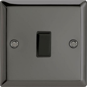 XI1B Varilight 1 Gang (Single), 1 or 2 Way 10 Amp Switch, Classic Iridium Black