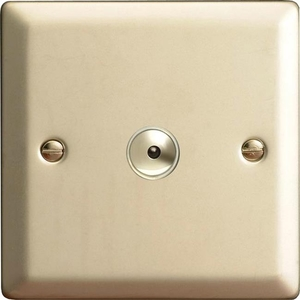 INI401M Varilight 1 Gang, 1 or 2 Way or Multi-way 400 Watt Touch/Remote Master Dimmer, Classic Satin Chrome