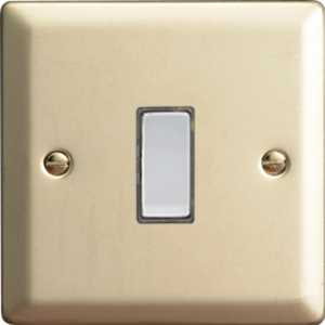 JNES001 - Varilight V-Pro Series Eclique2, 1 Gang Tactile Touch Button Slave Unit for 2 way or Multi-way Circuits Only, Classic Satin Chrome