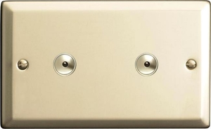 INI602M Varilight 2 Gang, 2x600W 1 or 2 Way or Multi-way Touch/Remote Master Dimmer, Classic Satin Chrome