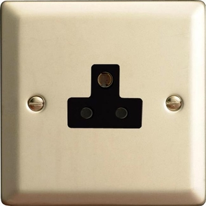 XNRP2AB Varilight 1 Gang (Single), 2 Amp Round Pin Socket, Classic Satin Chrome