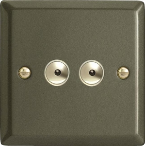 IPI402M Varilight 2 Gang, 1 or 2 Way or Multi-way 2x400 Watt Touch/Remote Master Dimmer, Classic Graphite 21