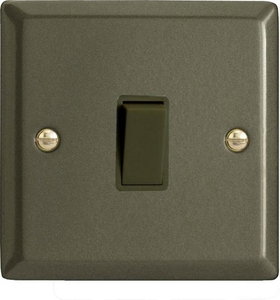 XP1B Varilight 1 Gang (Single), 1 or 2 Way 10 Amp Switch, Classic Graphite 21