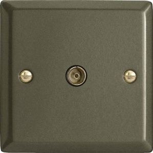 XP8iSOB Varilight 1 Gang (Single), Isolated Co-axial TV Socket, Classic Graphite 21