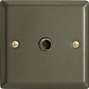 XP8S Varilight 1 Gang (Single), Satellite TV Socket, Classic Graphite 21