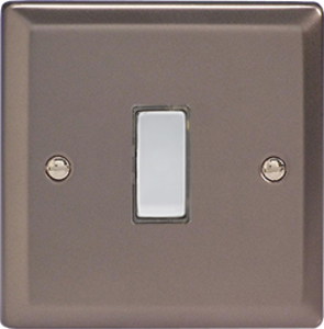 JRES001 - Varilight V-Pro Series Eclique2, 1 Gang Tactile Touch Button Slave Unit for 2 way or Multi-way Circuits Only, Classic Pewter