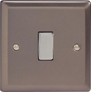 XR1D Varilight 1 Gang (Single), 1 or 2 Way 10 Amp Switch, Classic Pewter