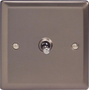 XRT7 Varilight 1 Gang (Single), (3 Way) intermediate Classic Toggle Switch, Classic Pewter