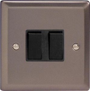 XR77B Varilight 2 Gang (Double), (3 Way) Intermediate 10 Amp Switch, Classic Pewter