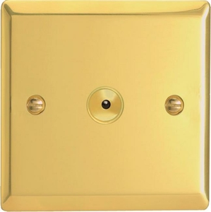 IVI401M Varilight 1 Gang, 1 or 2 Way or Multi-way 400 Watt Touch/Remote Master Dimmer, Classic Victorian Polished Brass Effect