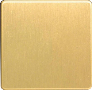 XDBSBS Varilight 1 Gang (Single), Blank Plate, Dimension Screwless Brushed Brass Effect