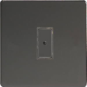 JDIE101S - Varilight V-Pro Series Eclique2, 1 gang Intelligent Programmable Master Dimmer, with Tactile Touch Button and Integrated Remote Control Sensor 0-100 Watts of LEDs (10 LEDs Max), Dimension Screwless Iridium Black