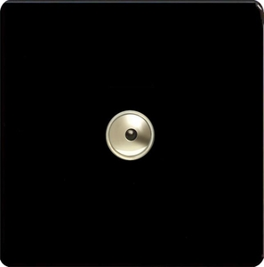IDLI401MS Varilight 1 Gang, 1 or 2 Way or Multi-way 400 Watt Touch/Remote Master Dimmer, Dimension Screwless Premium Black