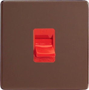 XDM45SBS Varilight 45 Amp Cooker Switch (Single Size), Dimension Screwless Mocha
