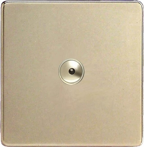 IDNI401MS Varilight 1 Gang, 1 or 2 Way or Multi-way 400 Watt Touch/Remote Master Dimmer, Dimension Screwless Satin Chrome