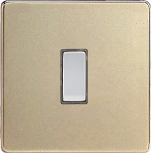 JDNES001S - Varilight V-Pro Series Eclique2, 1 Gang Tactile Touch Button Slave Unit for 2 way or Multi-way Circuits Only, Dimension Screwless Satin Chrome