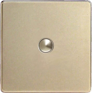 XDNP1S Varilight 1 Gang (Single) 1 or 2 way 6 Amp Push-on Push-off Switch (impulse), Dimension Screwless Satin Chrome