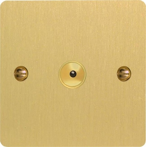 IFBI601M Varilight 1 Gang, 1 or 2 Way or Multi-way 600 Watt Touch/Remote Master Dimmer, Ultra Flat Brushed Brass Effect