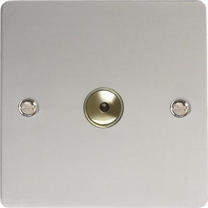 IFCI601M Varilight 1 Gang, 1 or 2 Way or Multi-way 600 Watt Touch/Remote Master Dimmer, Ultra Flat Polished Chrome