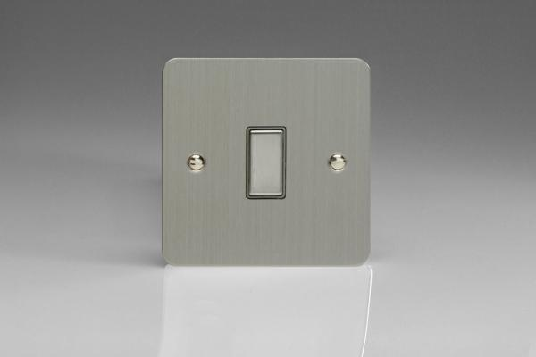 V-Pro Multi Point Tactile Touch Slave (MP Slave) Series 1 Gang Unit for use with V-Pro Multi Point Remote Master Dimmers Ultra Flat Brushed Steel