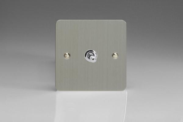 Varilight 1 Gang 10 Amp Toggle Switch Ultra Flat Brushed Steel