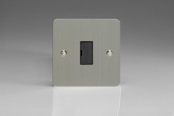 Varilight 1 Gang 13 Amp Unswitched Fused Spur Ultra Flat Brushed Steel