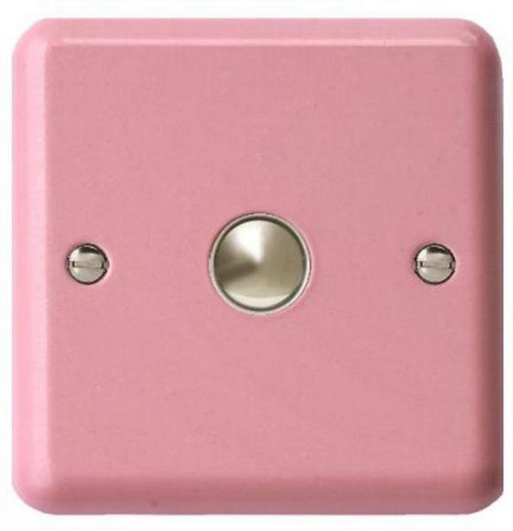 IYN401PK Varilight Nursery Dimmer, 1 Gang, 1 Way 400w NurseryTouch Dimmer, Glitter Pink