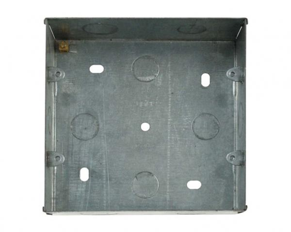 PGRIDBOX6-8 (WA512) Metal 47mm Deep Wall Box (Knock-out) For 6 or 8 Gang Power Grid Plates