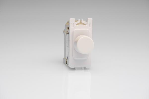 GJP100W.GU [Z0JP400.24GU] is a 1 Gang (Single), 1 or 2 Way 200 Watt (Trailing Edge) Dimmer module for GET Grid plates.