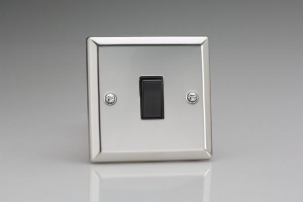 XC7B Varilight 1 Gang (Single), (3 Way) Intermediate 10 Amp Switch, Classic Polished Chrome (also known as Classic Mirror Chrome)