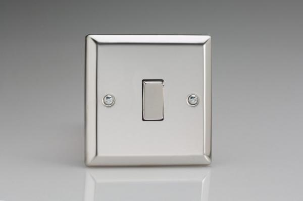 XC7D Varilight 1 Gang (Single), (3 Way) Intermediate 10 Amp Switch, Classic Polished Chrome (also known as Classic Mirror Chrome)