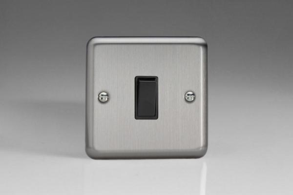 XS1B Varilight 1 Gang, 1 or 2 Way 10 Amp Switch, Classic Brushed Steel