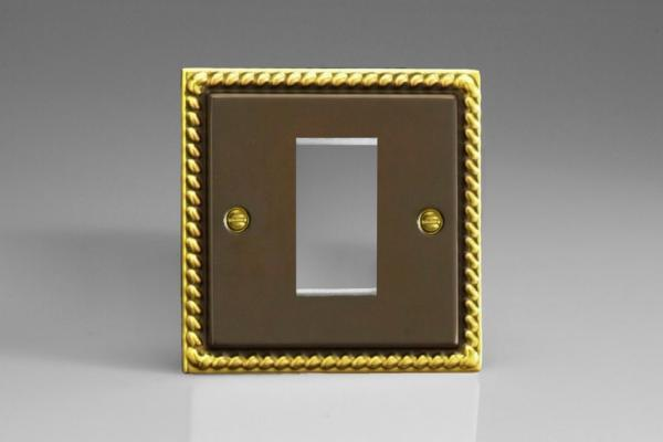 XAG1 Varilight Single Size Data Grid Face Plate For 1 Data Module Width, Classic Antique Georgian