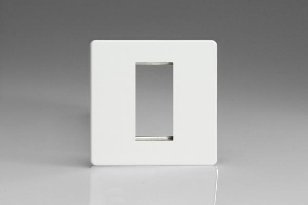 Varilight 1 Gang Data Grid Face Plate For 1 Data Module Width