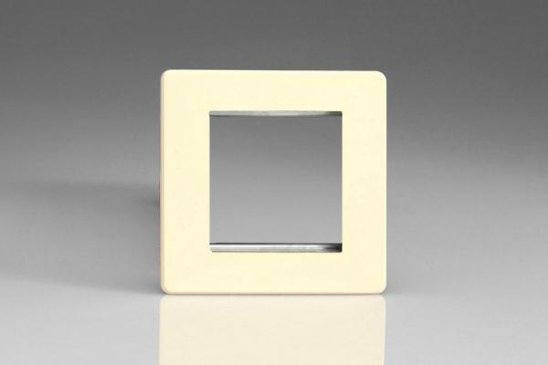XDWG2S Varilight Single Size Data Grid Face Plate For 2 Data Modules, Dimension Screwless White Chocolate