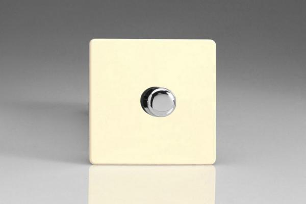 Varilight V-Dim Series Solid State 1 Gang 40-250 Watt Fan Controller Screwless White Chocolate