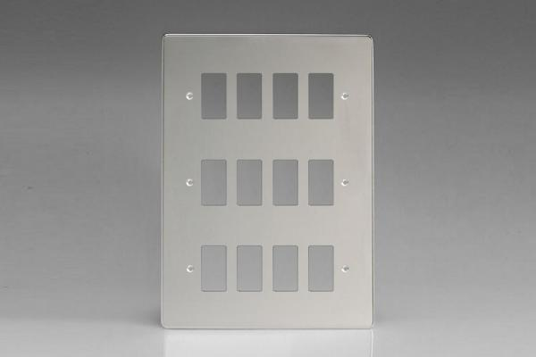 Varilight 12 Gang Power Grid Faceplate Including Power Grid Frames