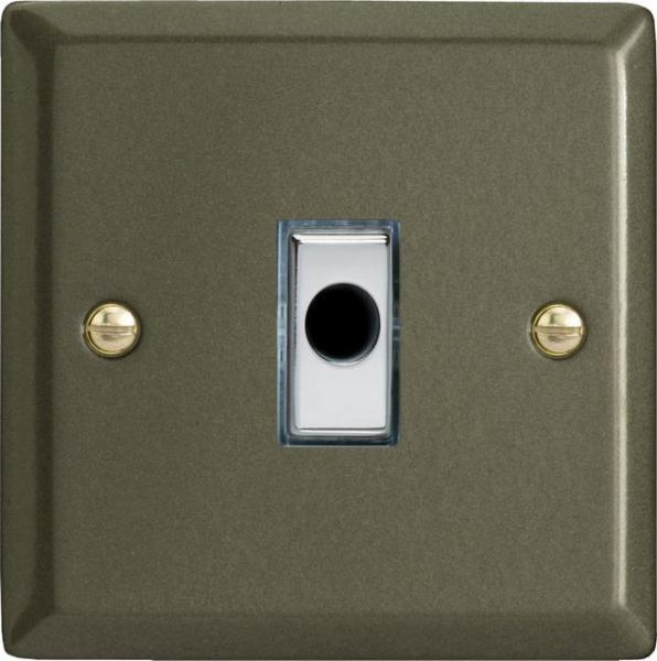 XPFOD-SP Varilight Flex Outlet Plate with Cable Clamp, Polished Chrome insert, Classic Graphite 21. (Bespoke & Special)