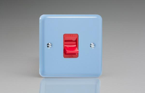 Varilight 45 Amp Double Pole Cooker Switch Classic Lily Duck Egg Blue