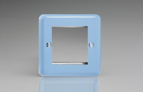 Varilight 2 Gang Data Grid Face Plate For 2 Data Module Widths Classic Lily Duck Egg Blue