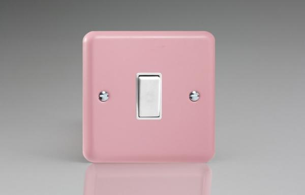 XY1W.RP Varilight 1 Gang (Single), 1 or 2 Way 10 Amp Switch, Classic Lily Rose Pink