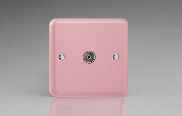 XY8.RP Varilight 1 Gang (Single), Co-axial TV Socket, Classic Lily Rose Pink